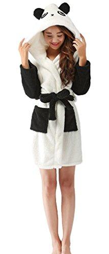 SAMGU Womens Hooded Bathrobe Cartoon Anime Animal NightGown Warm Nightwear Sleepwear
