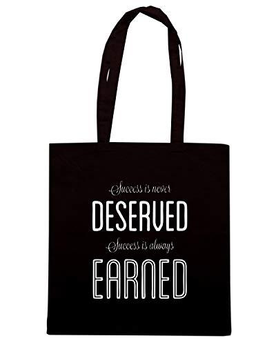 IS EARNED Nera Shopper SUCCESS Speed ROBIN ALWAYS Shirt CIT0191 Borsa SHARMA gaqRxf