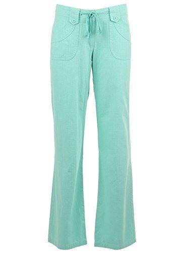 Se-Pantalones de lino para mujer Menta Verde
