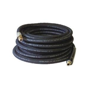 Apache APH98382305 Black Rubber Pressure Washer Hose (Coupled Male, 3/8'' ID x 100 by Apache