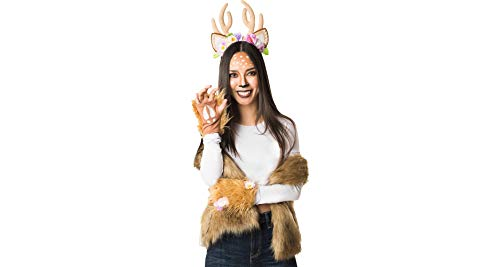Papillion Accessories Woodland Deer Halloween Costume Accessory Kit for Women, 3 Pieces, by M&J Trimmings -