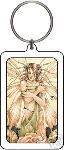 Linda Ravenscroft Faerie Muse Fairy Faery Lucite Keychain
