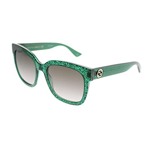 Gucci GG0034S 007 Green 0034S Square Sunglasses Lens Category 3 Size ()