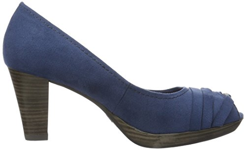 Marco Tozzi 29302 - Zapatos de vestir de lona para mujer Azul (Ocean 803)
