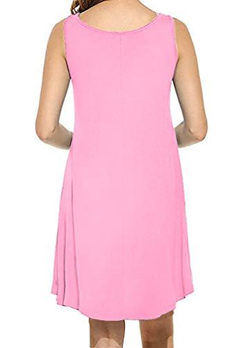 MOLERANI Women's Casual Swing Simple T-Shirt Loose Dress