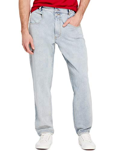 GUESS Factory Men's Pascal Relaxed Tapered Jeans ()