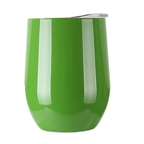 insulated wine glass with lid - 1