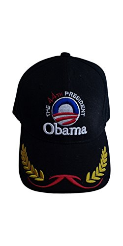 President Obama - 44th President Commander-in Chief (Black) Cap (One Size Fits All)