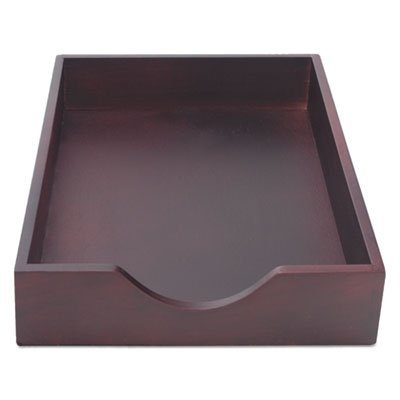 Hardwood Legal Stackable Desk Tray, Mahogany, Sold as 1 Each