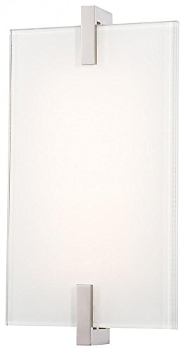 George Kovacs P1110-613-L, Hooked, 1 Light LED Bath Fixture, Polished Nickel