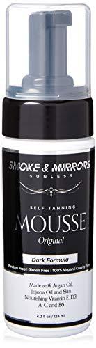 Smoke & Mirrors Sunless Mousse - Dark Natural Self Tanning Bronzing Foam Non-greasy - 4.2 oz.