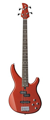Guitar Metallic Electric Red Bass - Yamaha TRBX204 BRM 4-String Bass Guitar, Bright Red Metallic
