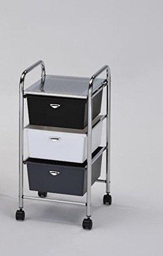 3 Drawer Portable Storage Bin Cart by Legacy Decor