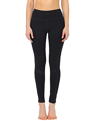 Rocorose Womens Yoga Pants High Waist 4 Way Stretch Tummy Control Moto Leggings