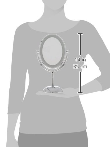 Conair Oval Shaped LED Double-Sided Lighted Makeup Mirror; 1x/7x magnification; Polished Chrome Finish by Conair (Image #8)