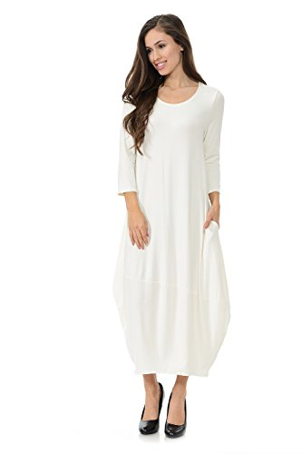 Pastel by Vivienne Women's Cocoon Midi Dress With Pocket Large (Pretty Bubble Dress)