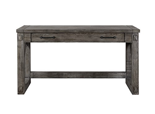 Martin Furniture IMAE384G Writing Desk, Grey - Martin Furniture Oak Executive Desk