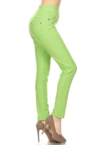 Leggings Depot Jeggings Lime -