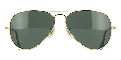 ae95b0ef8 Image Unavailable. Image not available for. Colour: Ray Ban Solid 18k. Gold  3025K Aviator