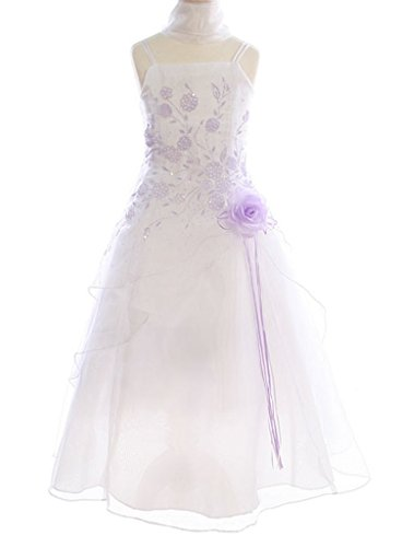 (BNY Corner Triple Layered Organza Dress For Little Girl Lilac 6 HC1110W)