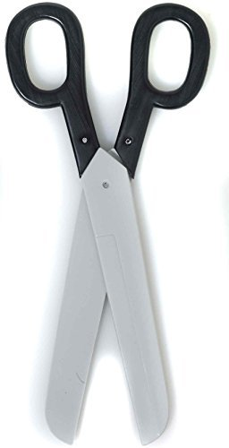 Forum Novelties Giant Scissors Black W/Silver - 15.5 inches (No Sharp Blade) ()