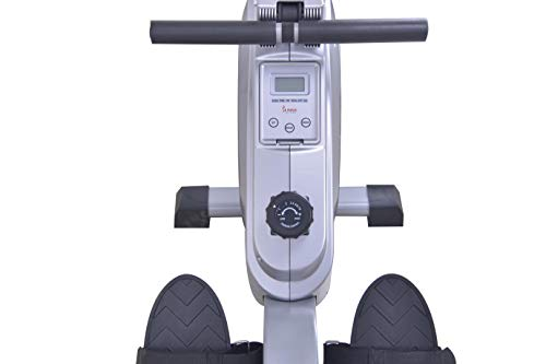 Find Discount Sunny Health & Fitness SF-RW5612 Dual Function Rowing Machine Rower w/ LCD Monitor