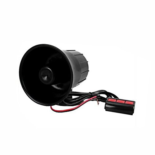 UXOXAS Black Plastic Auto Car Speaker Black Warn Loud Horn Trumpet, random color