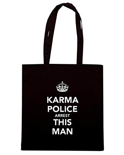 Borsa POLICE Nera AND KARMA Shopper CALM TKC0164 MAN KEEP THIS ARREST SSCT1Pwq