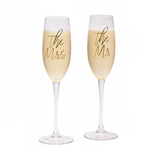- The Mr & The Mrs Wedding Champagne Flutes Glasses Cheers to us