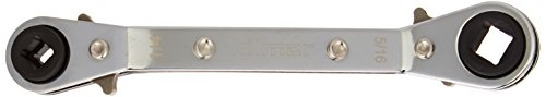 hilmor 1839043 Off Set Service Wrench,  1/4' x 3/16' Square, 3/8' x 5/16' Square