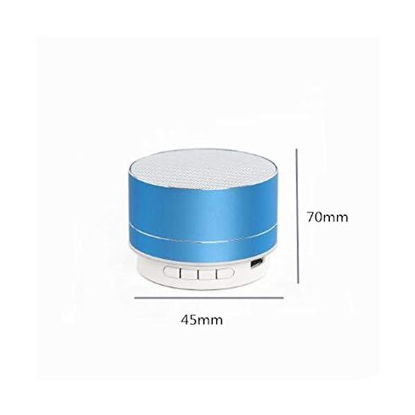 Haut-Parleur Portable Bluetooth étanche Voyage en Plein airHaut-Parleur sans Fil Bluetooth subwoofer de Carte Son d'ordinateur d'ordinateur Rouge 70mmx45mm 2