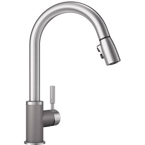 Blanco 442070 Sonoma 2.2 Bar Sink Faucet, Metallic Gray/Stainless Dual Finish by Blanco B01A8NA9N6