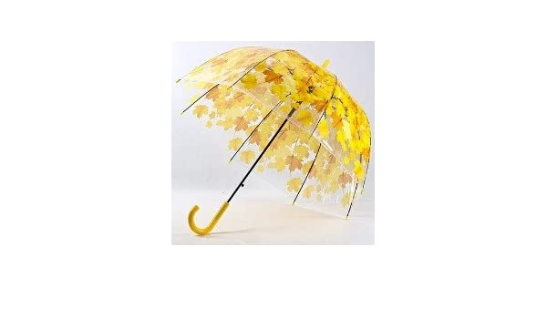 Amazon.com : Leaves Cage Umbrella Transparent Rainny Sunny Umbrella Parasol Cute Umbrella Women Cute Clear Paraguas (Yellow)) : Sports & Outdoors