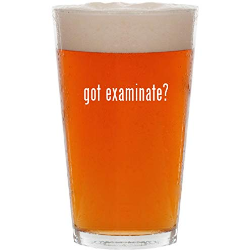 got examinate? - 16oz All Purpose Pint Beer Glass