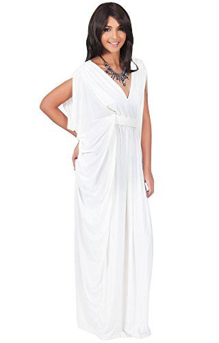 b3ba8e5195 KOH KOH Womens Long V-Neck Summer Grecian Greek Bridesmaid Wedding Party  Guest Flowy Formal Evening Slimming Vintage Maternity Gown Gowns Maxi Dress  Dresses ...