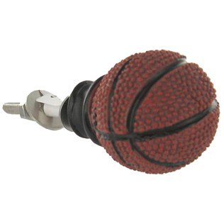 Single BASKETBALL Drawer Pull Knob Soccer Baseball and Football Sports Balls MBA Finals Draft Picks College MAN CAVE Father's Day (Basketball Drawer)