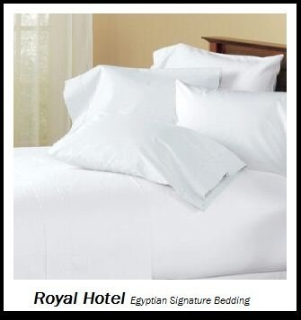 Royal Hotel's Solid White 600-Thread-Count 4pc Queen Bed She