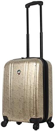 Mia Toro Italy Gita Hardside Spinner Carry-on, Gold, One Size