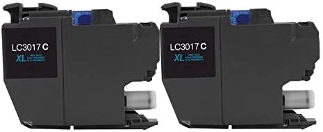 2//PK-550 Page Yield SuppliesMAX Compatible Replacement for Brother MFC-J5330//J5335//J5730//J76530//J6830DW Cyan High Yield Inkjet LC-3317XLC/_2PK