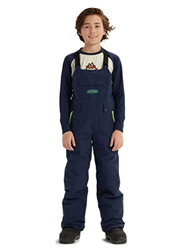(Burton Kids' Skylar Bib Snow Pant, Dress Blue, X-Small)