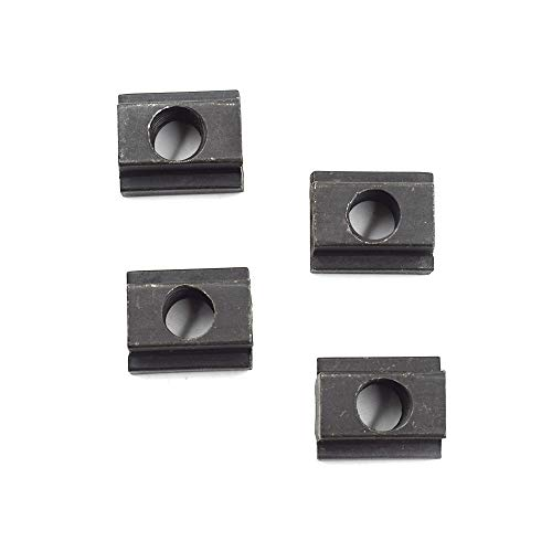 TOUHIA M10 T Slot Nuts 1018 Steel for Toyota Bed Deck Rail, for Tacoma & Tundra Cleats(4Pcs)