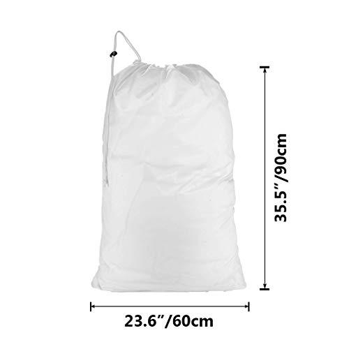 1 Pcs 23.6 x 35.4 Oniche Mesh Laundry Bag White Wash Bag Large Washing Bags for Washing Machine Travel Storage Organize Bag