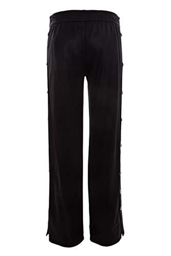 Femme Bd40551bj20634b1008 Coton Versus Pantalon Noir Versace Z5851q