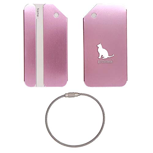ANIMAL GOT BURMESE CAT STAINLESS STEEL - ENGRAVED LUGGAGE TAG (ROSE GOLD) - UNITED STATES MILITARY STANDARD - FOR ANY TYPE OF LUGGAGE, SUITCASES, GYM BAGS, BRIEFCASES, GOLF BAGS ()