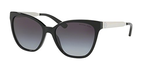 Michael Kors Womens Napa 0MK2058 55mm Black/Light Grey Gradient One - Sunglasses Michael Black Kors