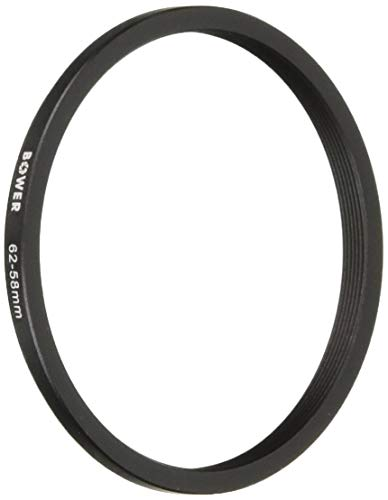 (Top Brand Bower Step Down Ring 62-58mm Lens Filter Size Adapter)