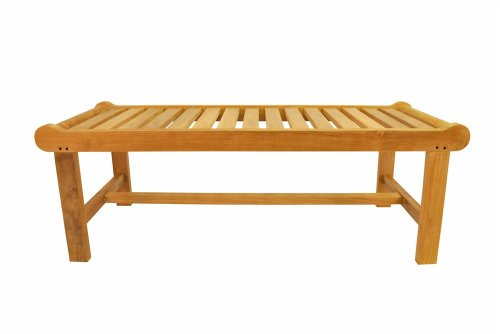 Anderson Teak Cambridge 2-Seater Backless Bench, - Teak Seater 2