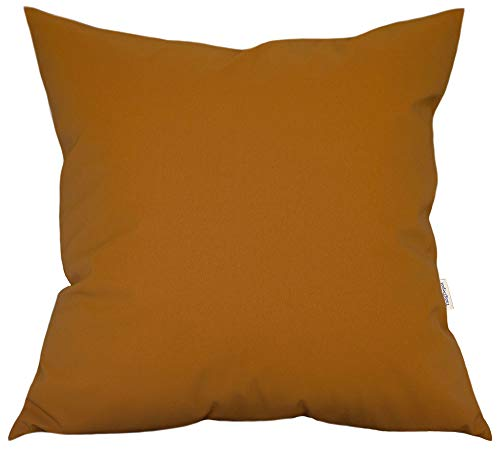 TangDepot Thick Faux Leather Luxury Pillow Cover Cushion Case for Sofa Bed, European Indoor/Outdoor Cushion Covers - (26