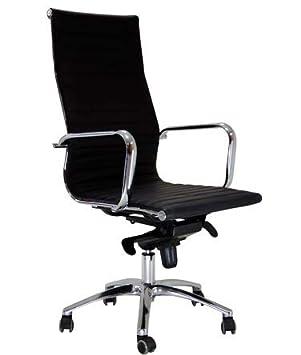 Hjh Office 660500 Burostuhl Chefsessel Parma 20 Leder Schwarz