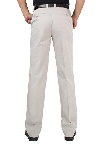 Crème Pantalon Décontracté Robe Coupe Droite Des Hommes De Mogu